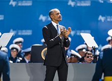 UNITED STATES AIR FORCE ACADEMY COMMENCEMENT WITH PRESIDENT OBAMA